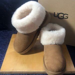 UGG Classic Mini Fluff Ankle Boot
